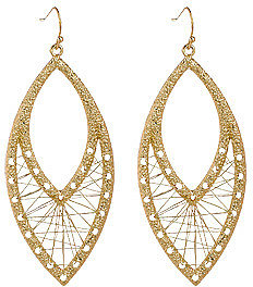Blu Bijoux Gold Wire Weave Earrings