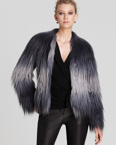 Rachel Zoe Jacket - Brooklyn Raglan Faux Fur