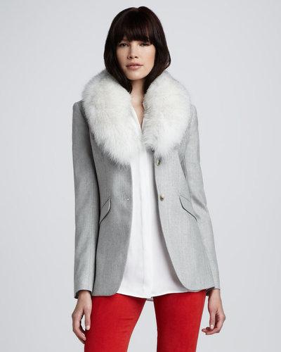 Theory Fur-Collar Jacket