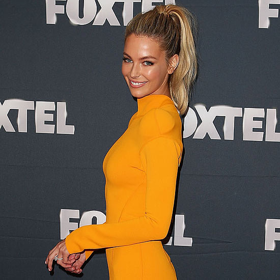 Jennifer Hawkins in Thierry Mugler to Foxtel Program Launch