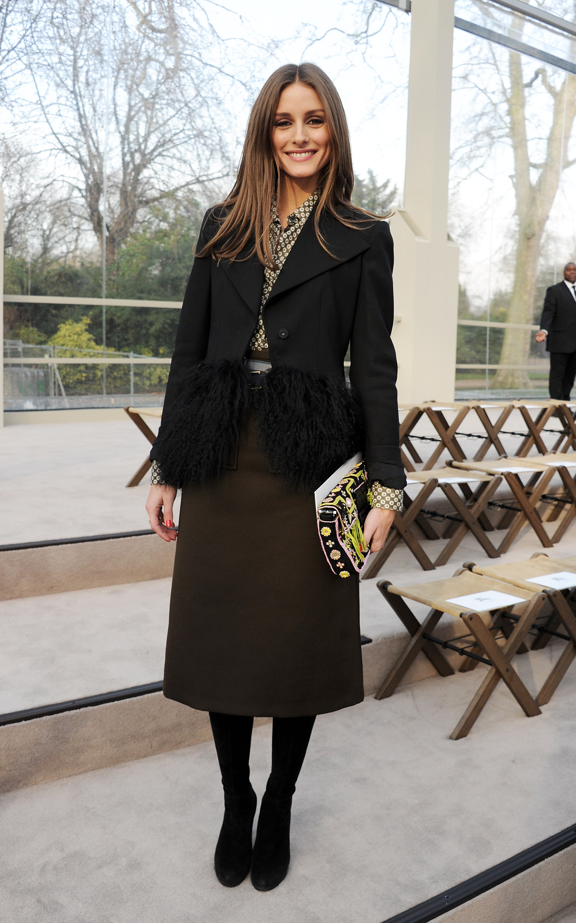 Olivia Palermo at the Burberry Fa