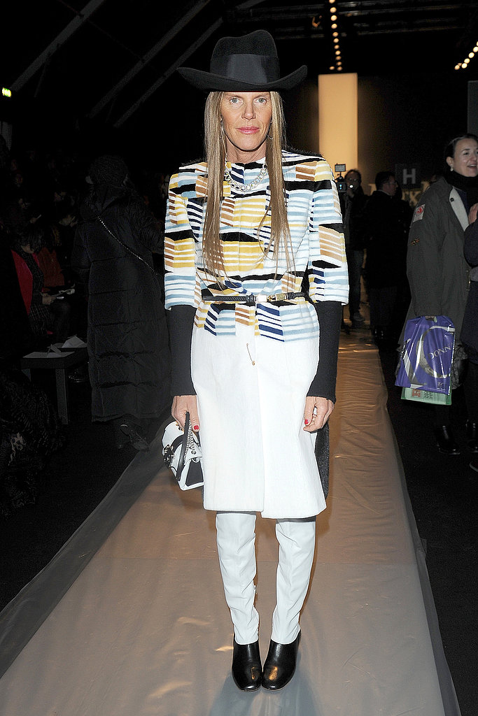 Anna Dello Russo at the Max Mara Fall 2013 show in Milan.