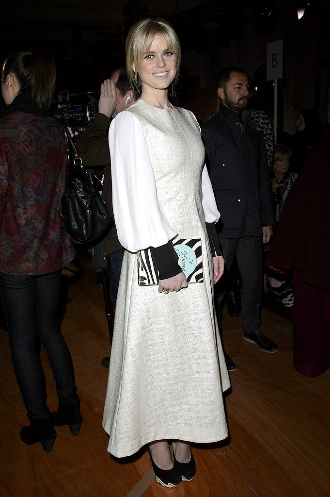 Alice Eve wore Spring 2013 Roksanda Ilincic at the Roksanda Ilincic Fall 2013 show in London.