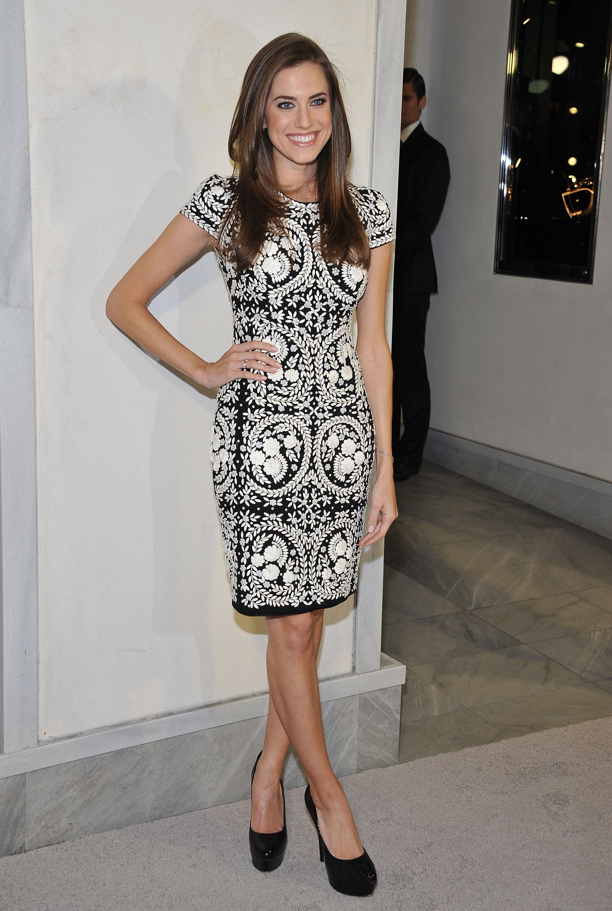 Allison Williams at the Tom Ford cocktail party in Los Angeles.