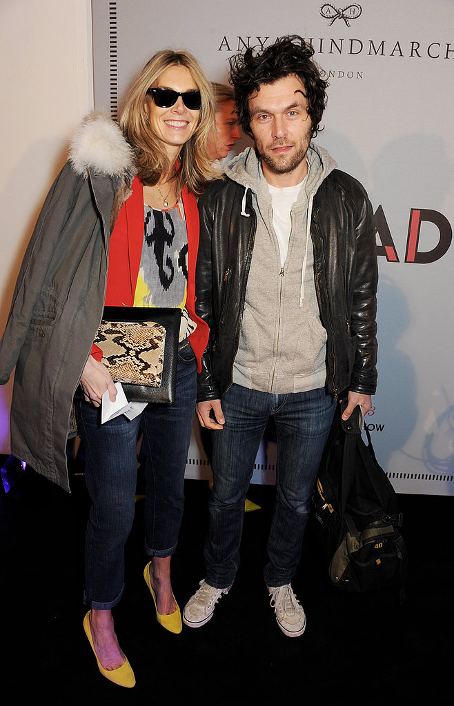 Kim Hersov and Barry Reigate at the Anya Hindmarch Fall 2013 show in London.
