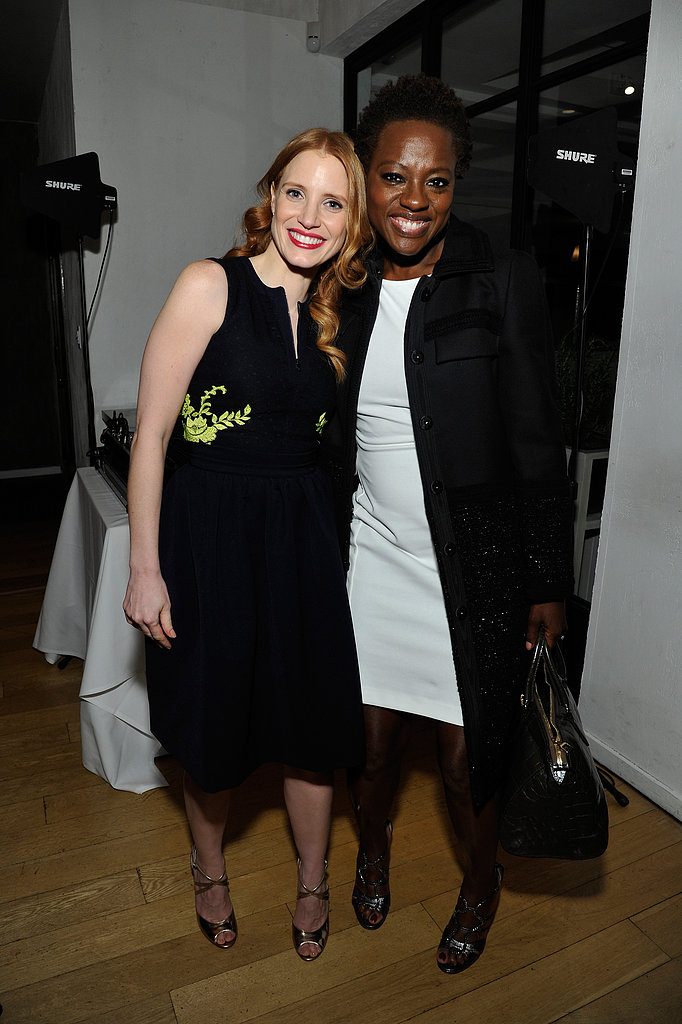 Jessica Chastain and Viola Davis posed together at the Women in Film event in LA on Friday night.