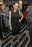Alyssa Milano wore black to the event.