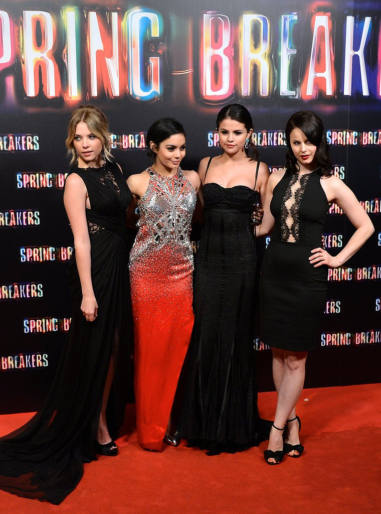 The girls posed together at the premiere.