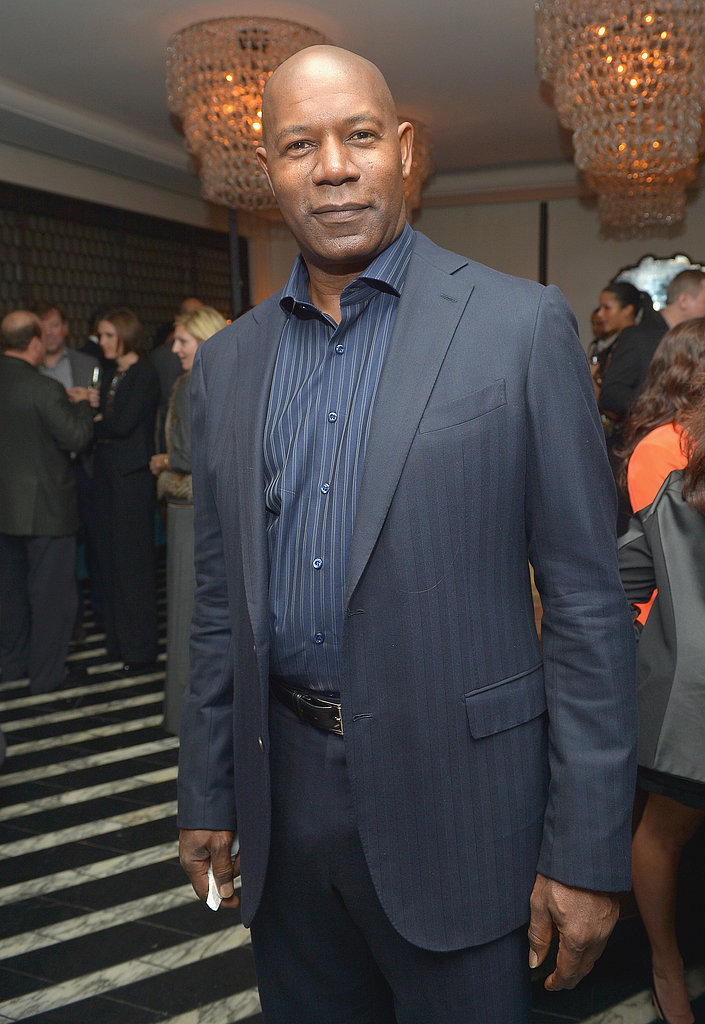 Dennis Haysbert wore blue on blue.