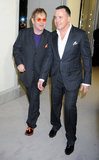 Elton John and David Furnish arrived at the Tom Ford event together in LA on Thursday.