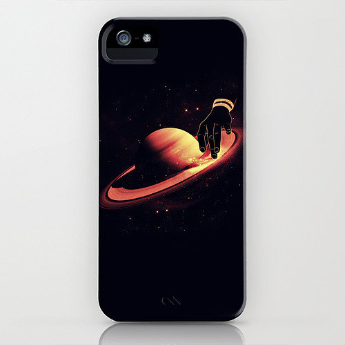 Spin that Saturntable track, DJ — in a scene depicted on an iPhone case ($35).