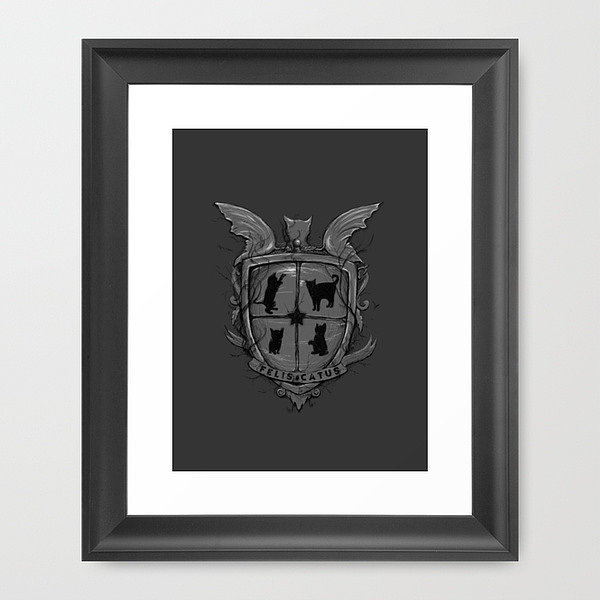 The Sorting Hat has decided that you belong to Felis Catus, here as a framed print ($35).