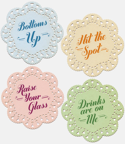 Indelicate Doily Coasters IN STOCK NOW!