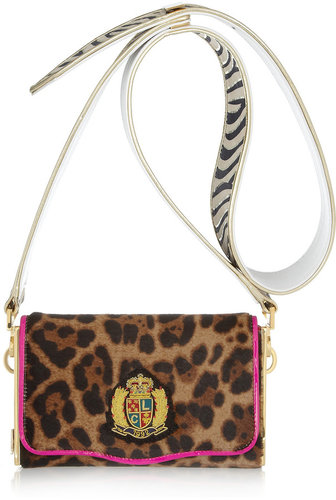 Christian Louboutin Carrie animal-print calf hair shoulder bag