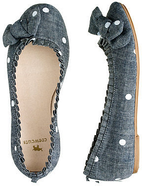 Girls' chambray ballet flats