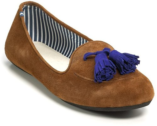 Charles Philip &quot;Sylvie&quot; Tassel Suede Loafers