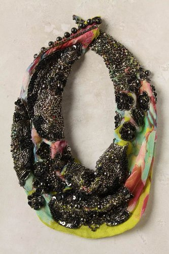 Cold Wave Scarf Necklace