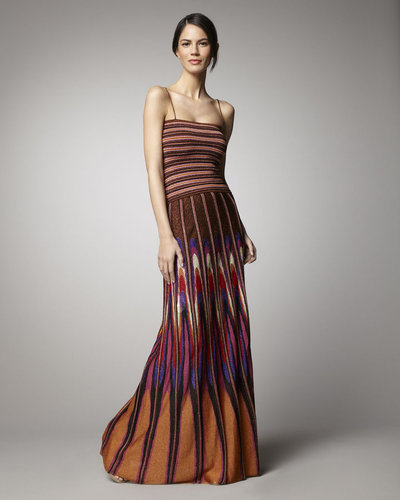 M Missoni Shimmery Twist-Detailed Gown