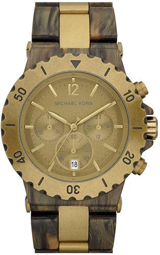 Michael Kors Two Tone Resin Chronograph Watch