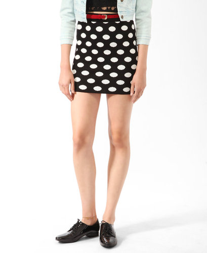 FOREVER 21 Polka Dot Bodycon Skirt