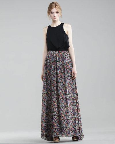 10 Crosby Derek Lam Floral-Printed Maxi Skirt