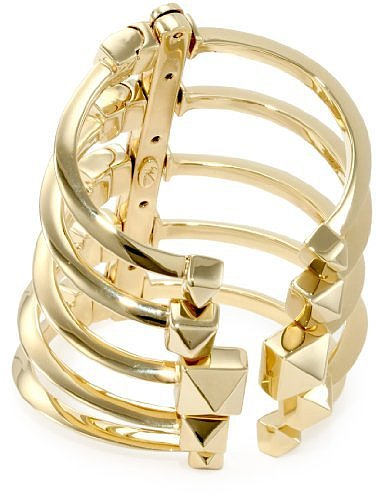 Giuseppe Zanotti Gold Finish Adjustable Multi Cuff Bracelet
