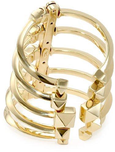Giuseppe Zanotti Gold Finish Adjustable Multi Cuff Bracelet