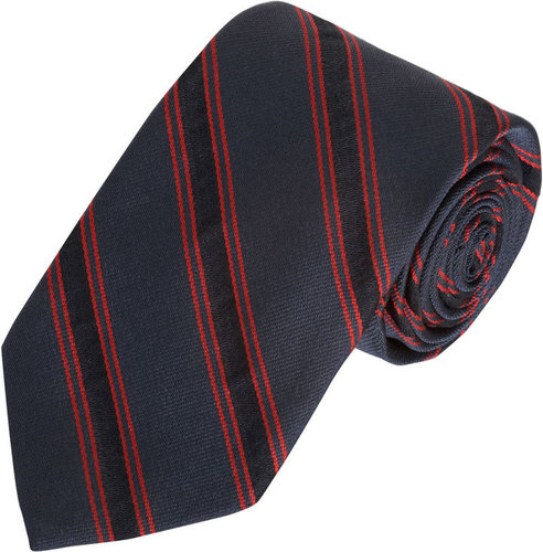 Band of Outsiders Diagonal Bordered Stripe Tie