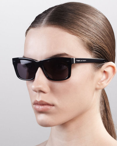 Marc Jacobs Cat Eye Logo Sunglasses, Black