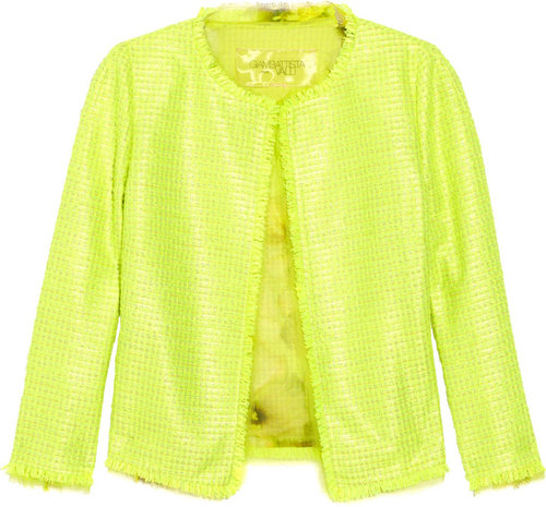 Giambattista Valli Silk chiffon-trimmed tweed jacket