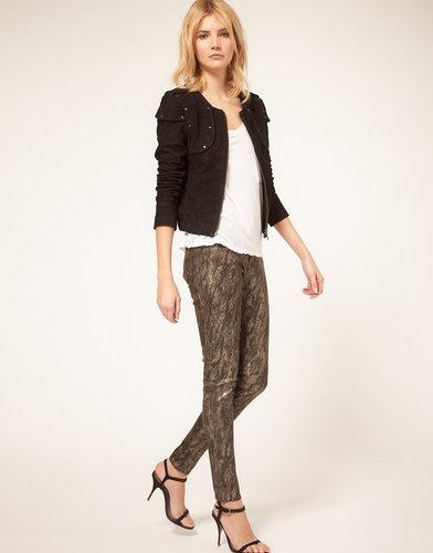J Brand Skinny Jean Low Rise In Golden Snake Print