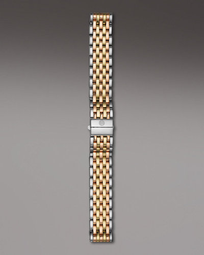 Michele Watches 18mm Deco Tri-Tone Bracelet