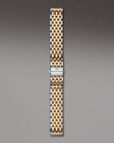 Michele Watches 18mm Deco Tri-Tone Bracelet
