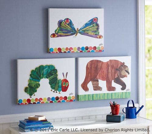 The Very Hungry Caterpillar and Brown Bear Artwork