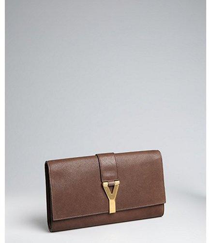 Yves Saint Laurent fondente leather 'Chyc' clutch