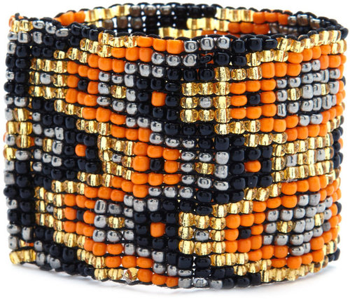 Tribal Bead Stretch Cuff