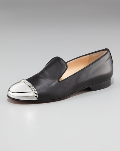 Christian Louboutin Rollergirl Metal-Capped Flat Loafer