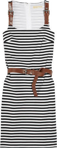 MICHAEL Michael Kors Striped stretch-jersey dress