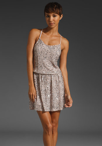 Alice + Olivia Bridget Sequin Blouson Dress
