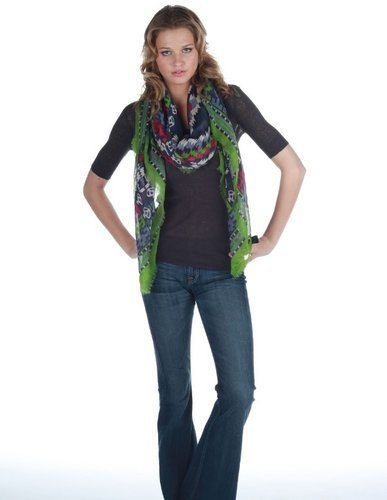 Tolani Navajo Square Scarf as seen on Jessica Alba