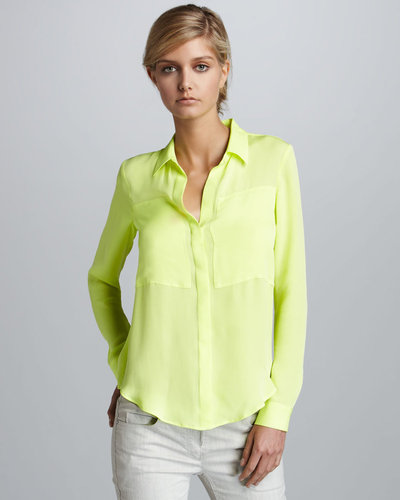 Theory Neon Blouse, Yellow