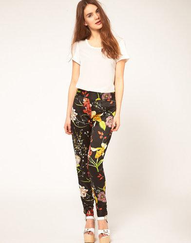Vila Oriental Floral Printed Pants