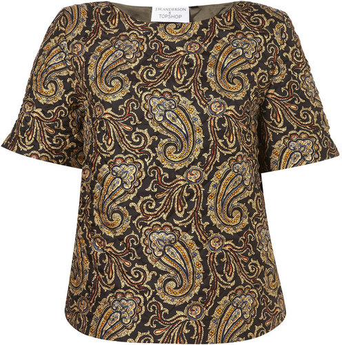 **Quilted Paisley Silk Tee by J.W. Anderson for Topshop