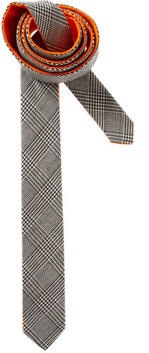 ASOS Check Tie With Orange Contrast