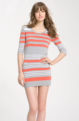 C & C California Striped Cotton & Cashmere Sweater Dress