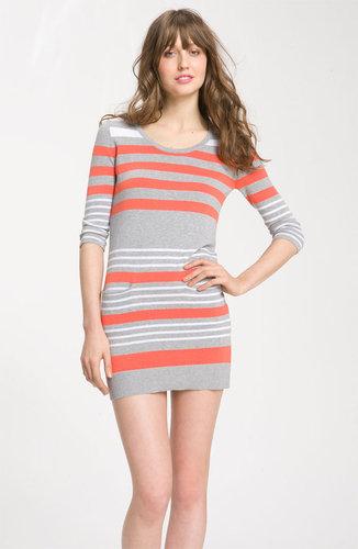 C & C California Striped Cotton & Cashmere Sweater Dress
