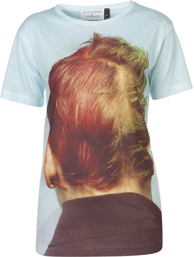**Back of Head Print Tee by J.W. Anderson for Topshop