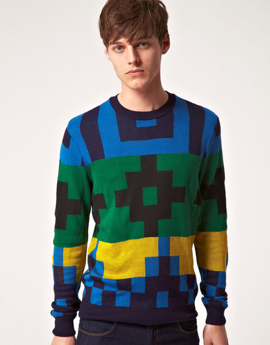 ASOS Block Pattern Sweater