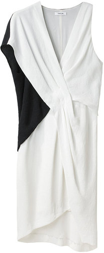 Helmut Lang / Bi-Color Tuck Dress