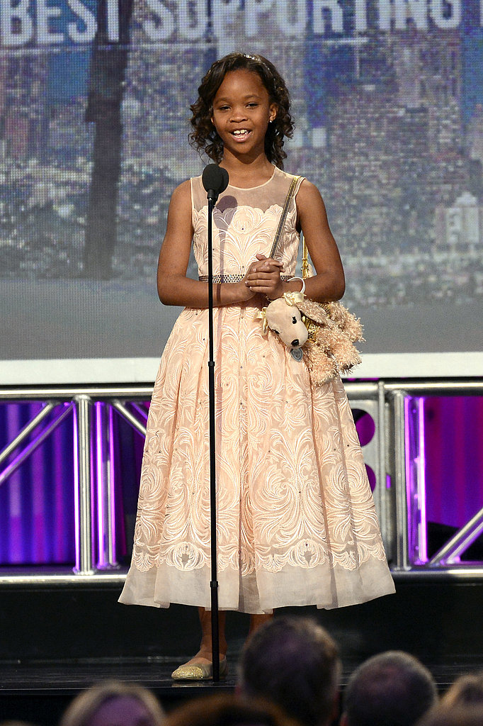 Quvenzhané Wallis attended the 2013 Spirit Awards.